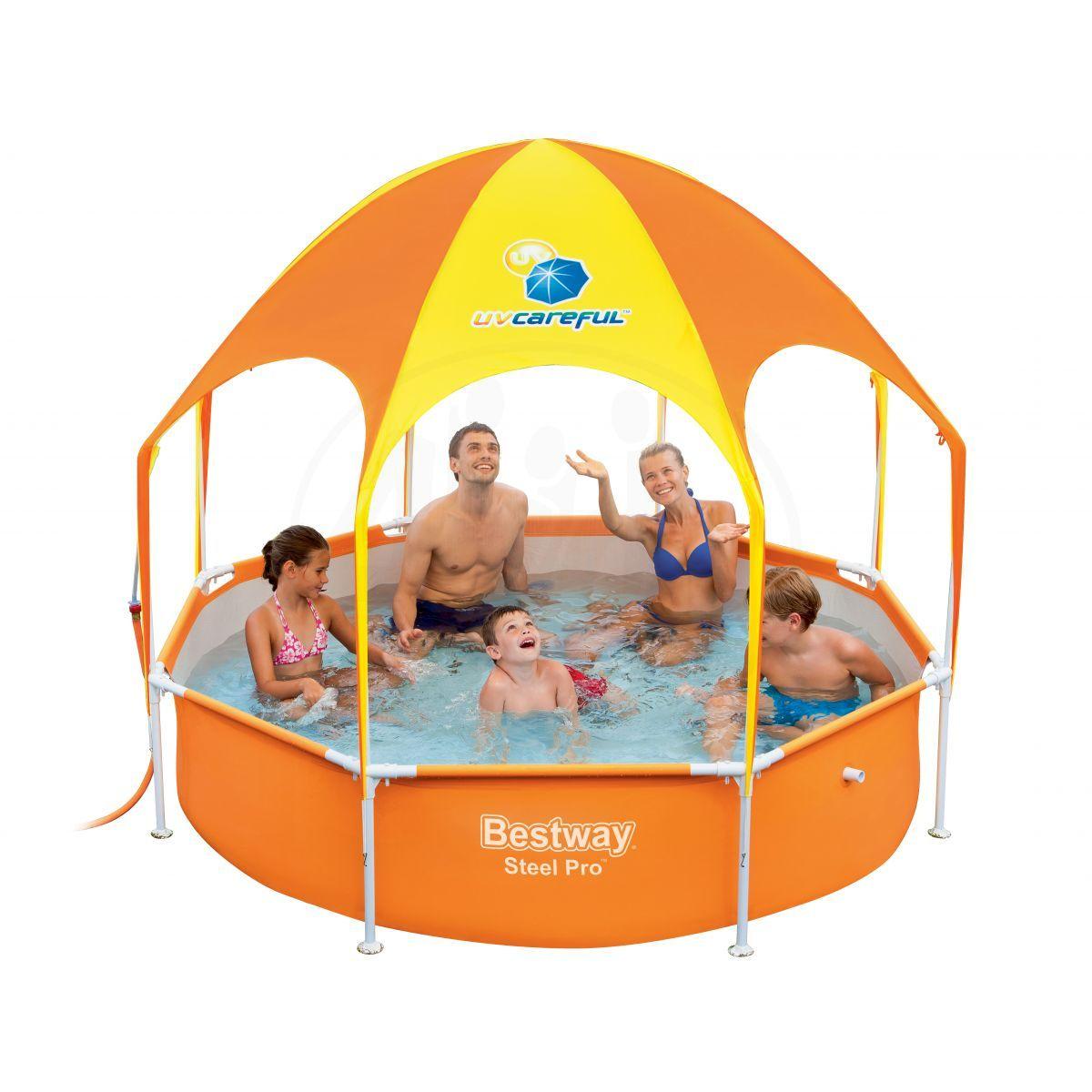 BESTWAY 52192 Bazén se stříškou 147x147x122 cm