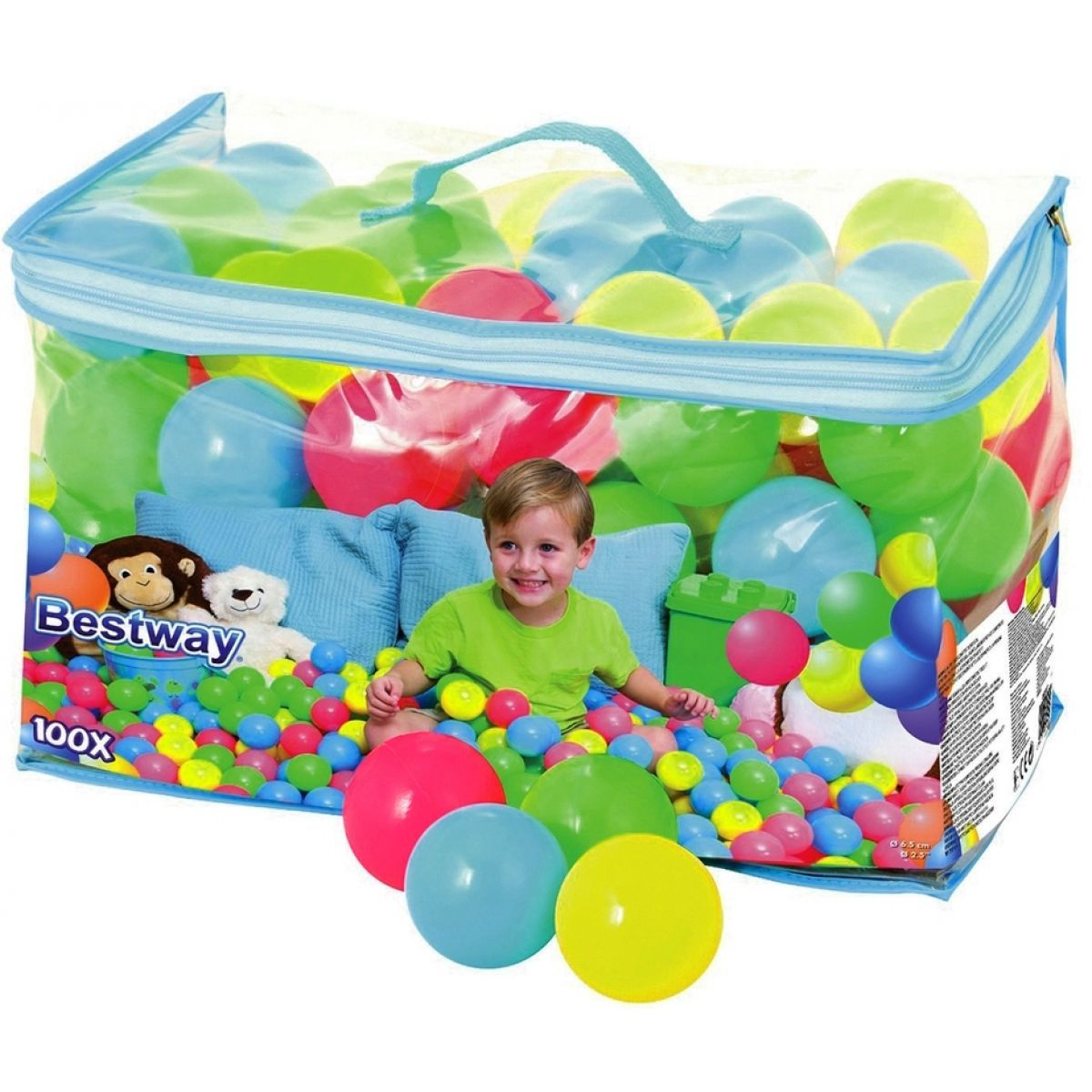 BESTWAY Míčky do hracího koutu Balls 100 ks