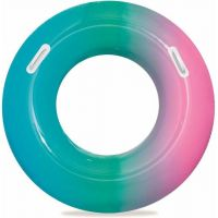 Bestway Nafukovací kruh duhový 91 cm zelenorůžový