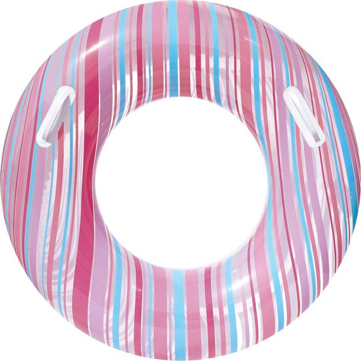 Bestway 36010 Nafukovací kruh Proužek 91cm - Růžová