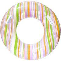 Bestway 36010 Nafukovací kruh Proužek 91cm - Zelená
