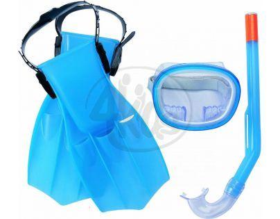 Bestway Šnorchlovací set - ploutve, brýle, šnorchl - Modrá