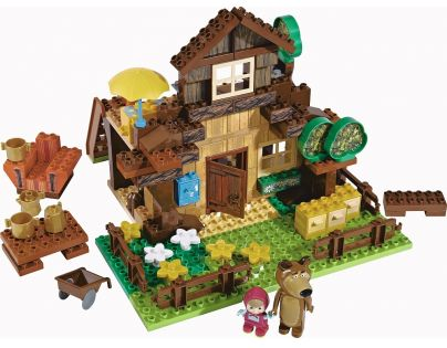 Big PlayBIG Bloxx Máša a medvěd Stavebnice Míšův dům