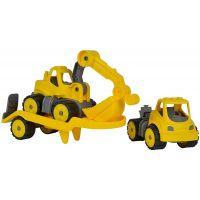 Big Power Worker Mini Transportér s bagrem 41 cm 2