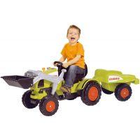 Big Šlapací traktor Claas se lžící a vozíkem 2