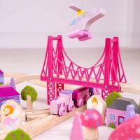 Bigjigs Rail Dřevěná velká vláčkodráha princezny 6