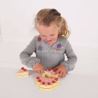 Bigjigs Toys Dřevěný krájecí dort s jahodami 2
