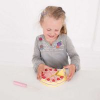 Bigjigs Toys Dřevěný krájecí dort s jahodami 3