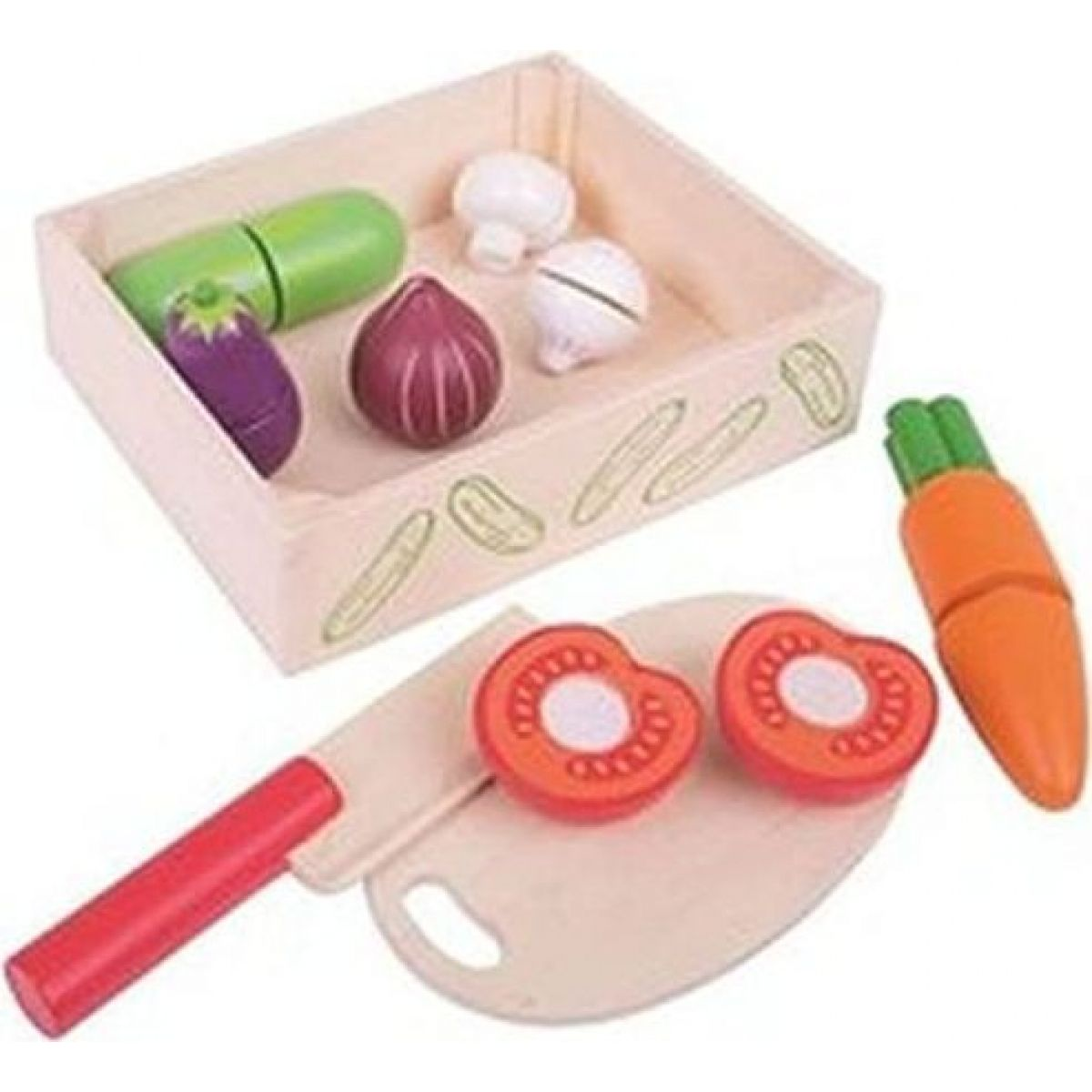 Bigjigs Toys Krájecí zeleniny v krabičce