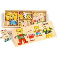Bigjigs Toys Obliekacie puzzle Medvedia rodinka