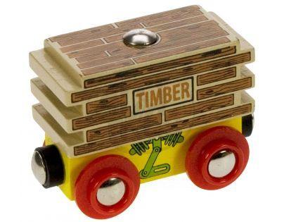 Bigjigs - Vagon se dřevem - 70404
