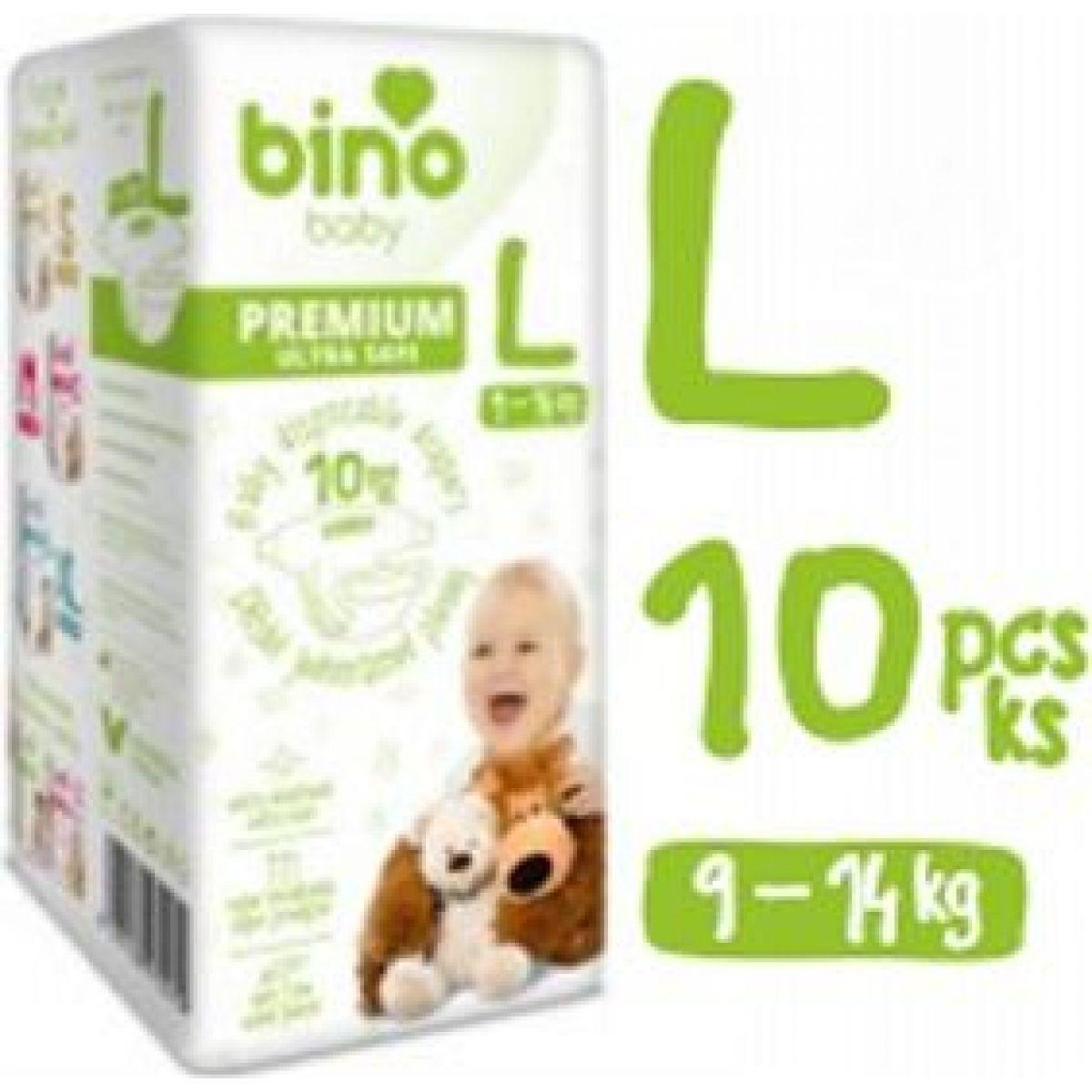 Bino Baby Premium Pleny vel. L 9-14 kg 6x10 ks s dárkem