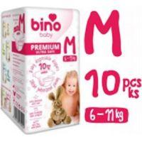 Bino Baby Premium Pleny vel. M 6-11 kg 6 x 10 ks s dárkem