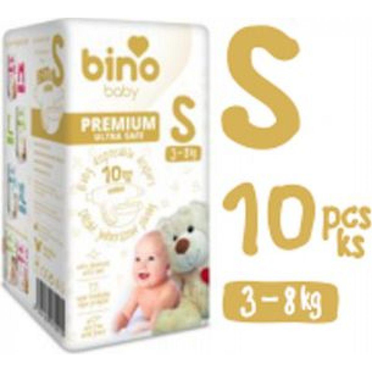 Bino Baby Premium Pleny vel. S 3-8 kg 6 x 10 ks s dárkem