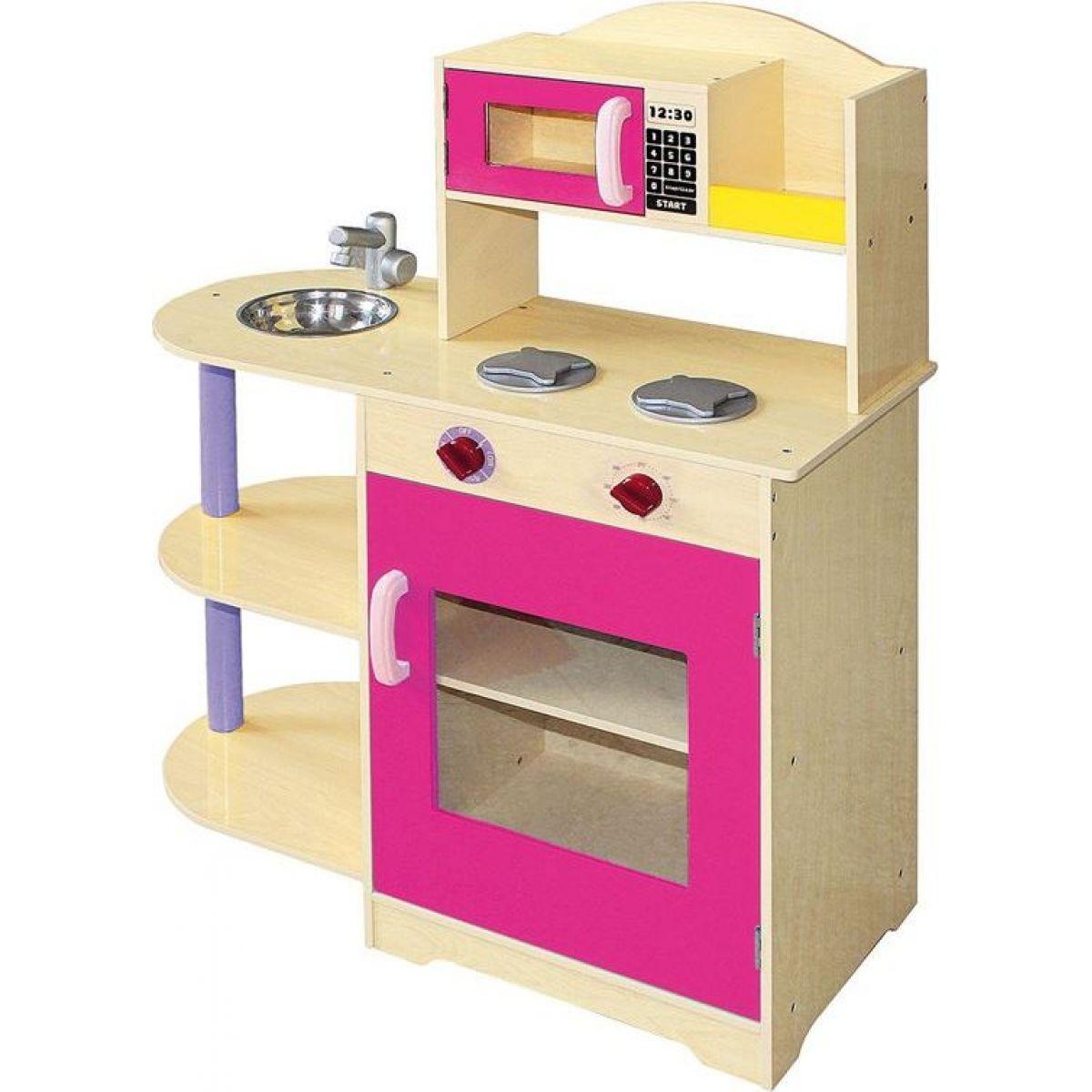 Bino Dětská kuchyňka s mikrovlnnou troubou
