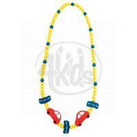 Bino Dřevěný náhrdelník Korále Auto