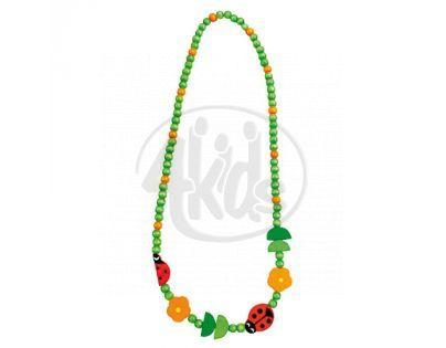 Bino Dřevěný náhrdelník Korále Beruška