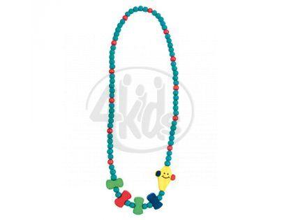 Bino Dřevěný náhrdelník Korále Drak