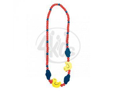 Bino Dřevěný náhrdelník Korále Kachnička