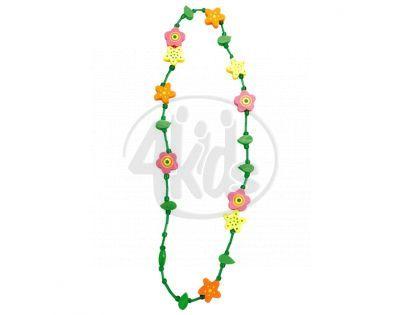 Bino Dřevěný náhrdelník Květina