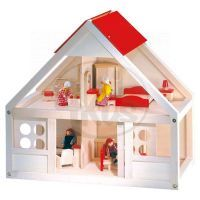 Bino 83551 - Velký domeček pro panenky s vybavením