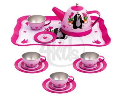 Bino 13743 - Dětský čajový set - Krtek