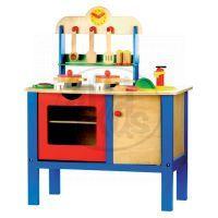 Dětská kuchyňka s příslušenstvím 17 dílů Bino 83720