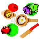 Dětská kuchyňka s příslušenstvím 17 dílů Bino 83720 2