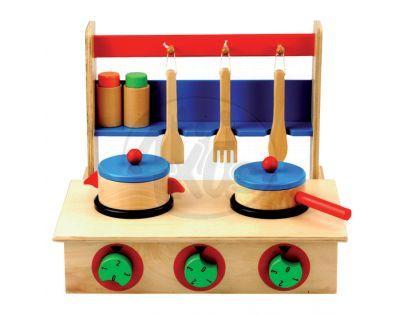 Bino 83721 - Dětský vařič s příslušenstvím ( 10 dílů )