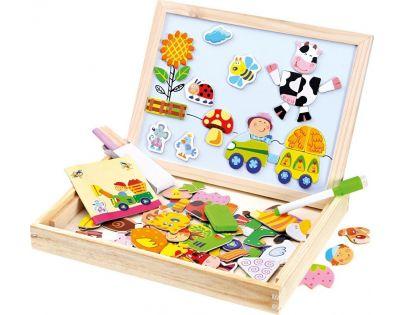Bino Farma magnetická tabulka s puzzle