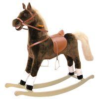 Bino Houpací kůň plyšový maxi hnědý