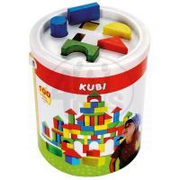 Bino 84196 - Dřevěné barevné kostky KUBI 100ks