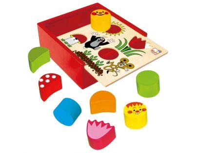 Bino Krteček Krabička s tvary 10 ks