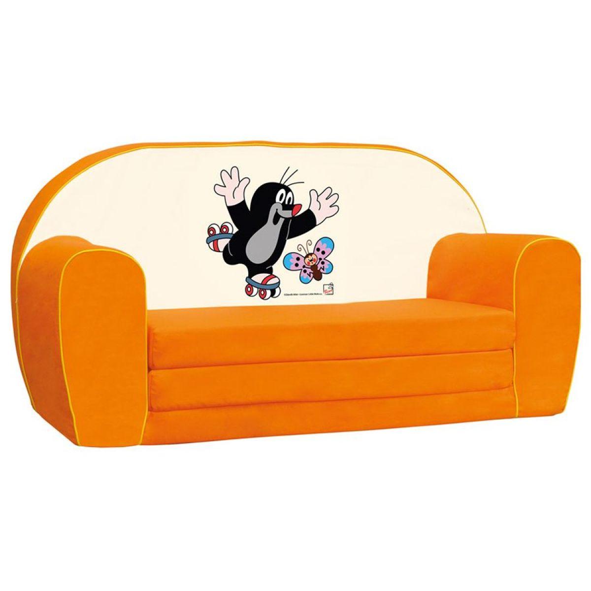 Bino Krteček mini pohovka oranžová