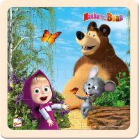 Bino Máša a medveď puzzle s myškou 20 x 20 cm