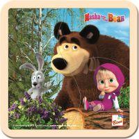 Bino Máša a medveď puzzle sa zajacom 15 x 15 cm