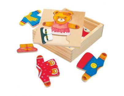 Bino 88048 - Puzzle - šatní skříň - medvědice
