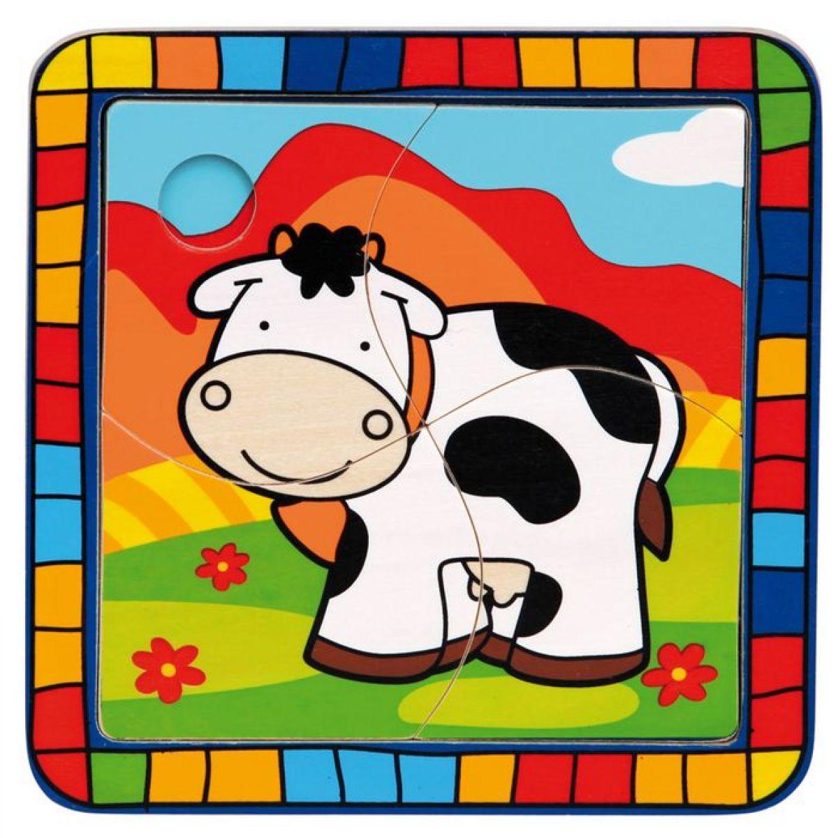 Bino 88004 - Puzzle kráva