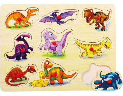Bino Puzzle na desce Dinosauři