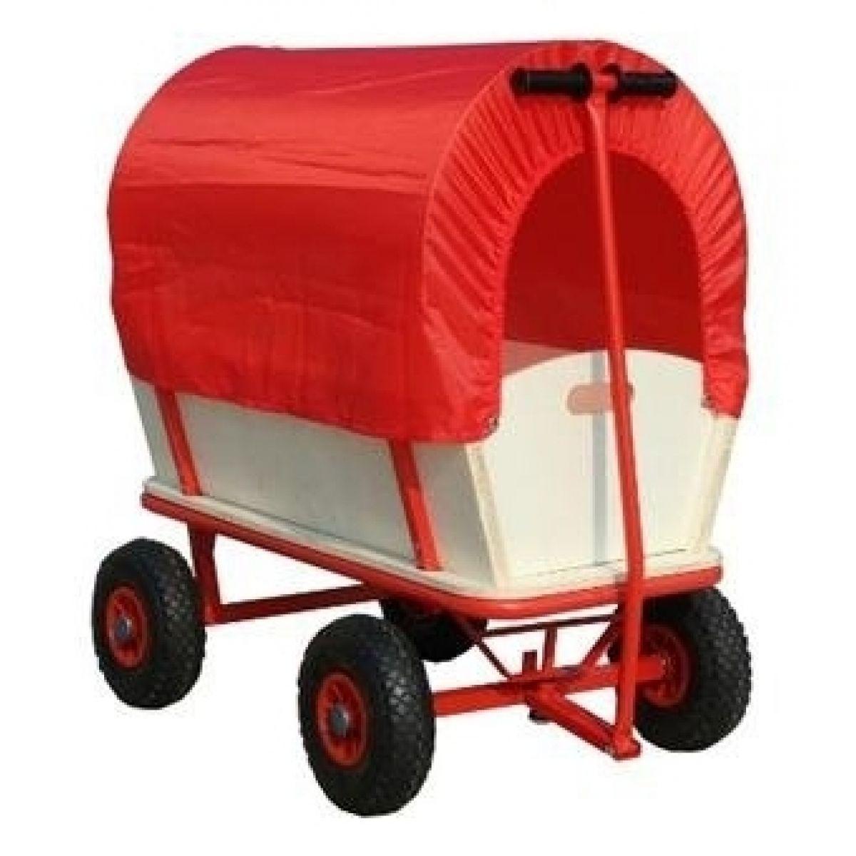 Bino Ruční vozík s nafukovacími koly a plachtou