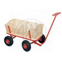 Bino Ruční vozík s nafukovacími koly a plachtou 3