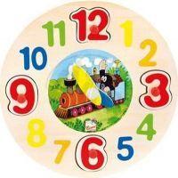Bino 13751 - Dřevěné hodiny - Krtek