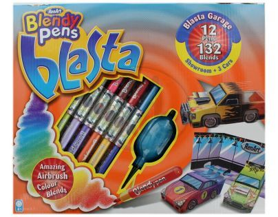 Blendy pens Blasta Garage showroom