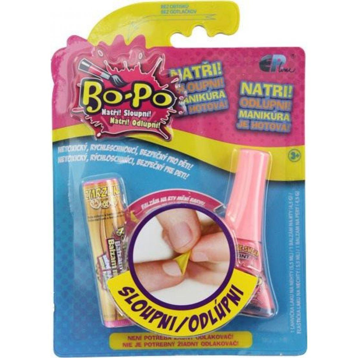 Bo-Po Lak na nehty a balzám Světle růžová a zmrzlina