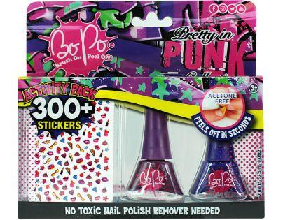 Bo-Po módní sada Punk červená a černá