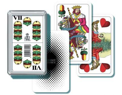 BONAPARTE 0158 - Mariášové karty dvouhlavé v plastové krabičce