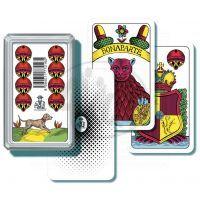 BONAPARTE 0165 - Mariášové karty jednohlavé v plastové krabičce