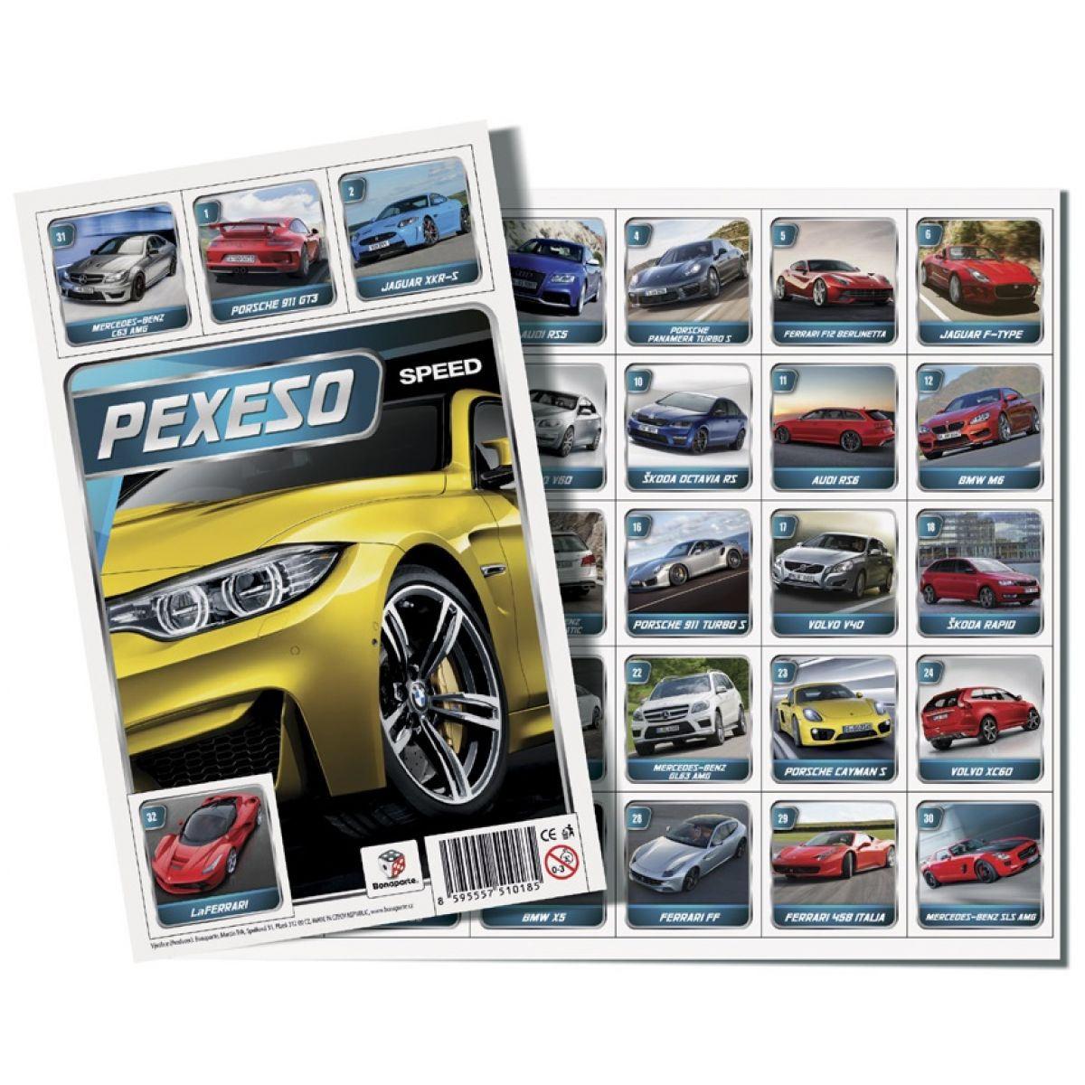 Bonaparte Pexeso 32 Auto Speed