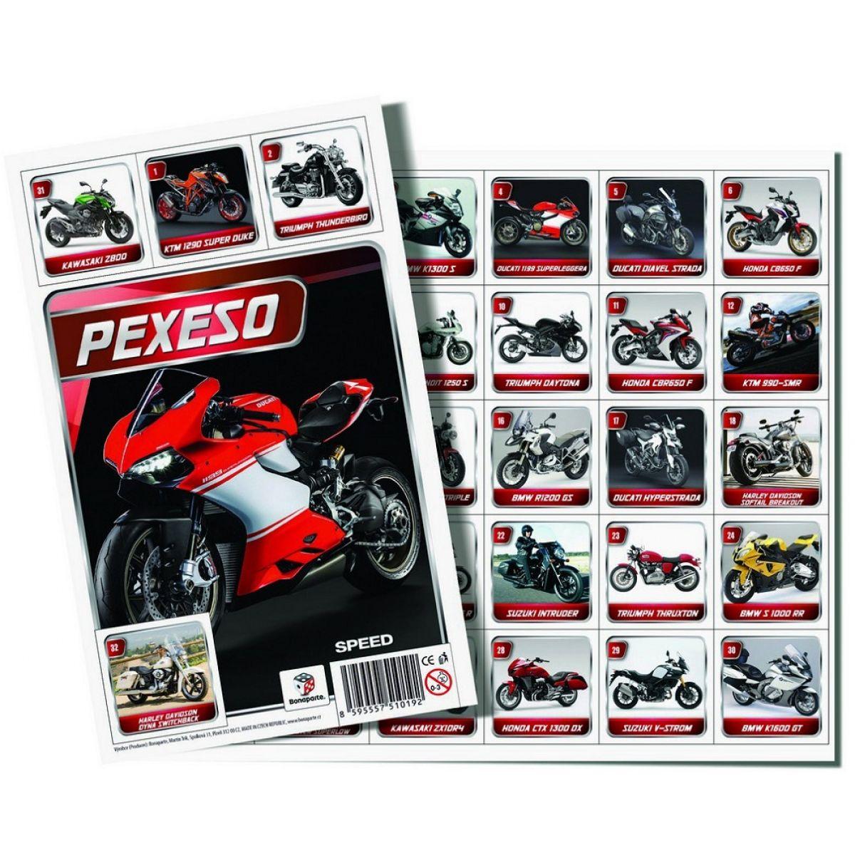 Bonaparte Pexeso 32 Moto Speed