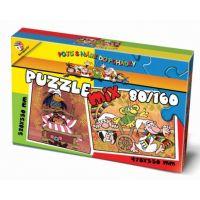 BONAPARTE Puzzle Mix 80 a 160 dílků - Pojď s námi do pohádky